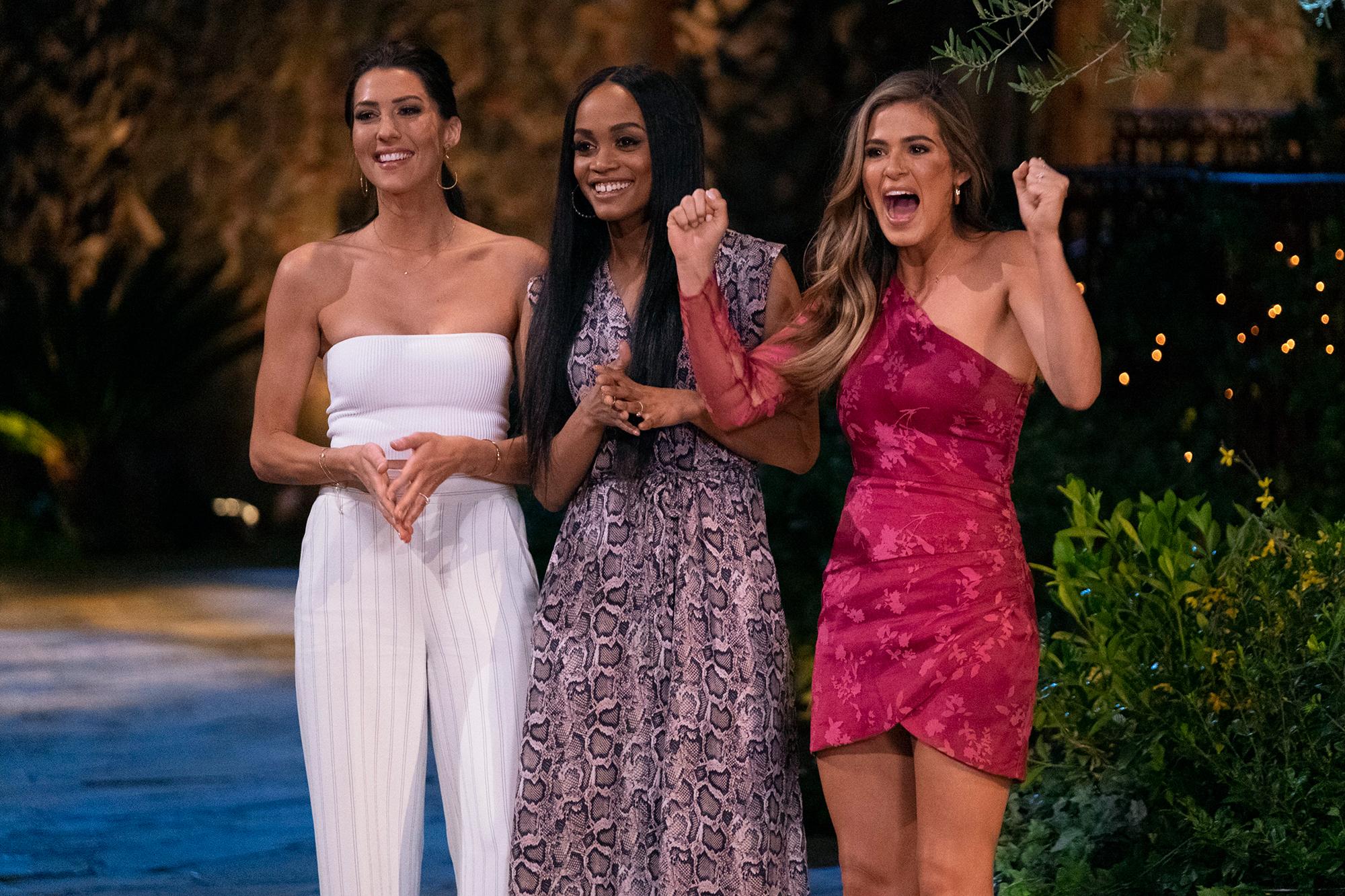 Bachelorette Reunion Made Rachel Lindsay 'Sad' - Becca Kufrin, Rachel Lindsay and Joelle Fletcher during ABC's Season 15 reunion of 'The Bachelorette.'