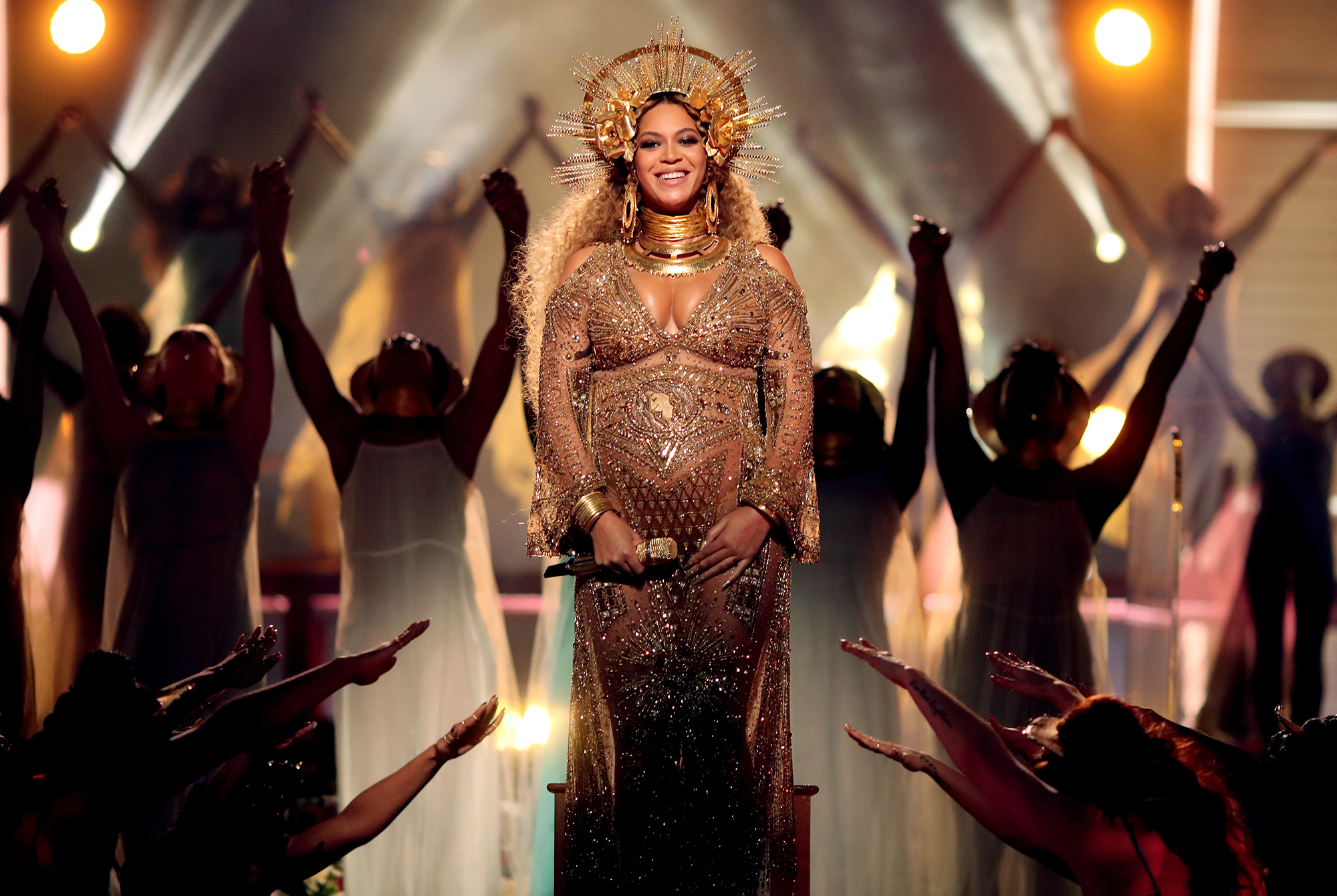 Beyonce Reveals the Super Strict Diet She Started Post-Twins - Beyonce during The 59th Grammy Awards at Staples Center on February 12, 2017 in Los Angeles, California.