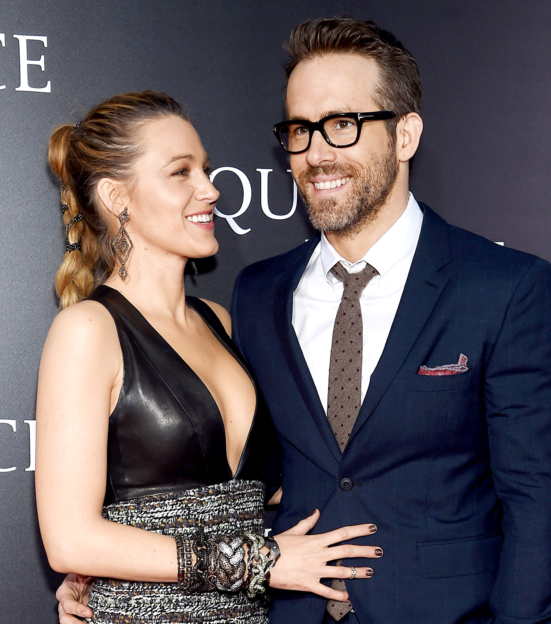 """Blake-Lively-Racy-Comment-Ryan-Reynolds-Instagram - Blake Lively and Ryan Reynolds attend the premiere for """"A Quiet Place"""" at AMC Lincoln Square Theater on April 2, 2018 in New York City."""
