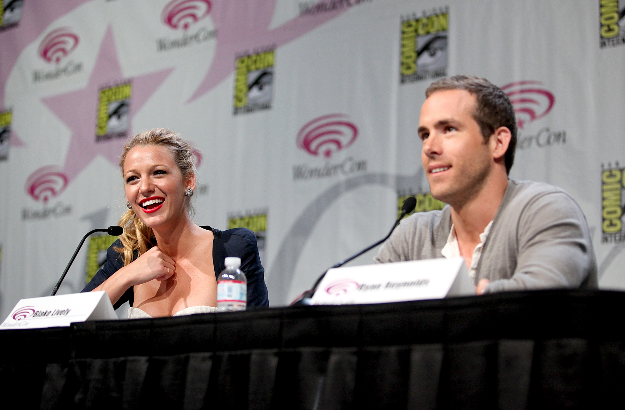 "Blake-Lively-Ryan-Reynolds-April-1,-2011 - Lively and Reynolds shared a few laughs during a 2011 WonderCon press conference at Moscone Convention Center in San Francisco, California. ""I'm very happy not to be in a relationship right now,"" Reynolds told Details in May 2011."