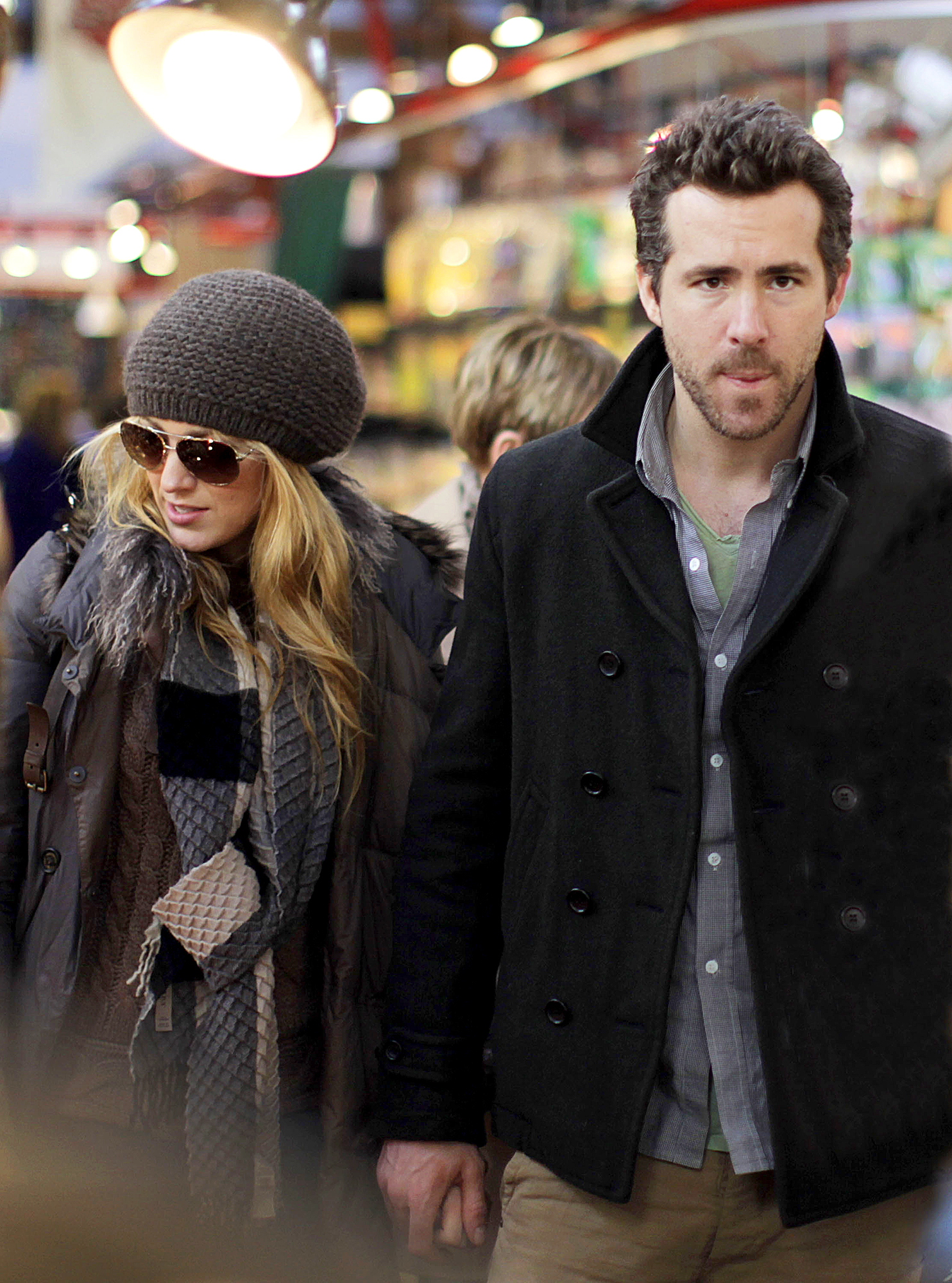 Blake-Lively-Ryan-Reynolds-December-12,-2011 - The couple spent the holidays with Reynolds' family in Vancouver, Canada. They held hands while walking through the Granville Island Public Market.