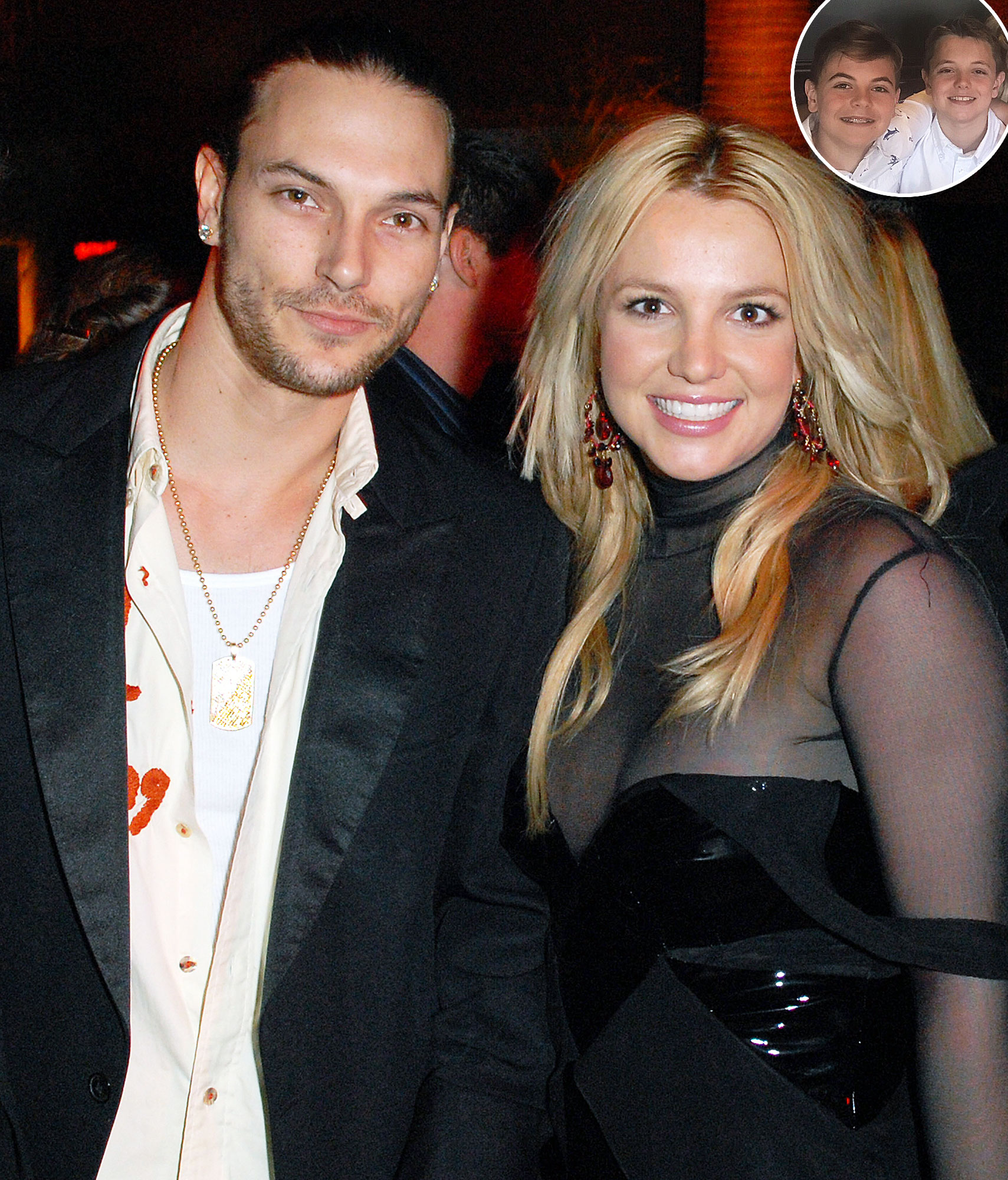 Britney Spears Mental Health Facility Sons With Kevin Federline - Kevin Federline, Britney Spears, Sean Preston and Jayden James.