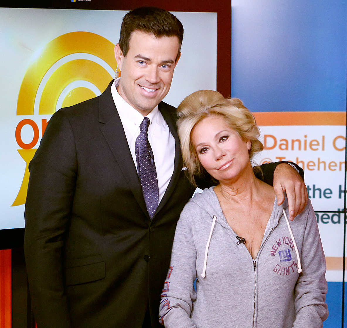 """Carson-Daly-Kathie-Lee-Gifford - """"She blazed her own path and in this rising climate, that's so rough where someone can be put up for critique for putting herself out there and being honest. She paved the way for that to be possible. It's a great work environment that she'll have your back in and she'll be herself."""""""