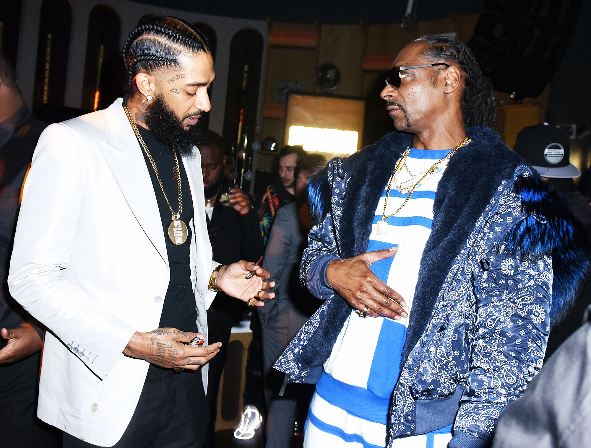 "Celebrities Pay Tribute Nipsey Hussle Snoop Dogg - ""Gone 2 soon @nipseyhussle,"" the rapper captioned a throwback video with Hussle on Instagram . ""I'm so sad right now I'll just reflect on the good times we had."""