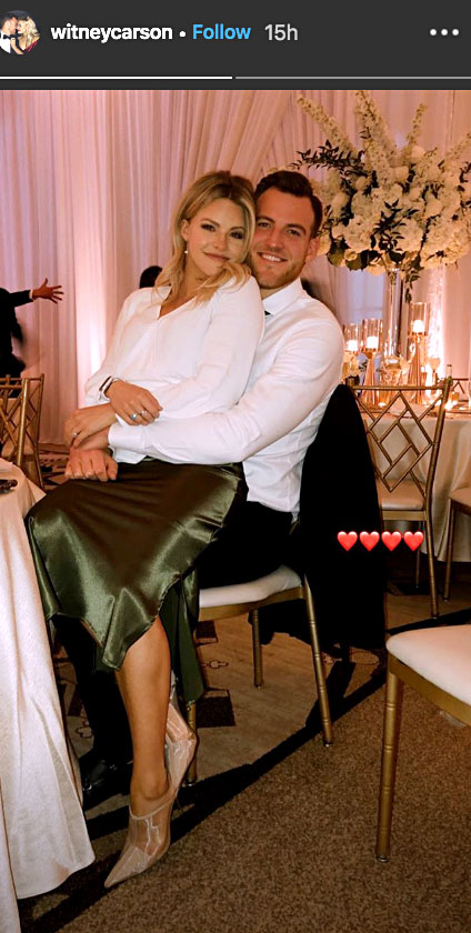 Celebs Party Val Chmerkovskiy Jenna Johnson Wedding - The DWTS pro and her husband of three years also cuddled up at the reception.
