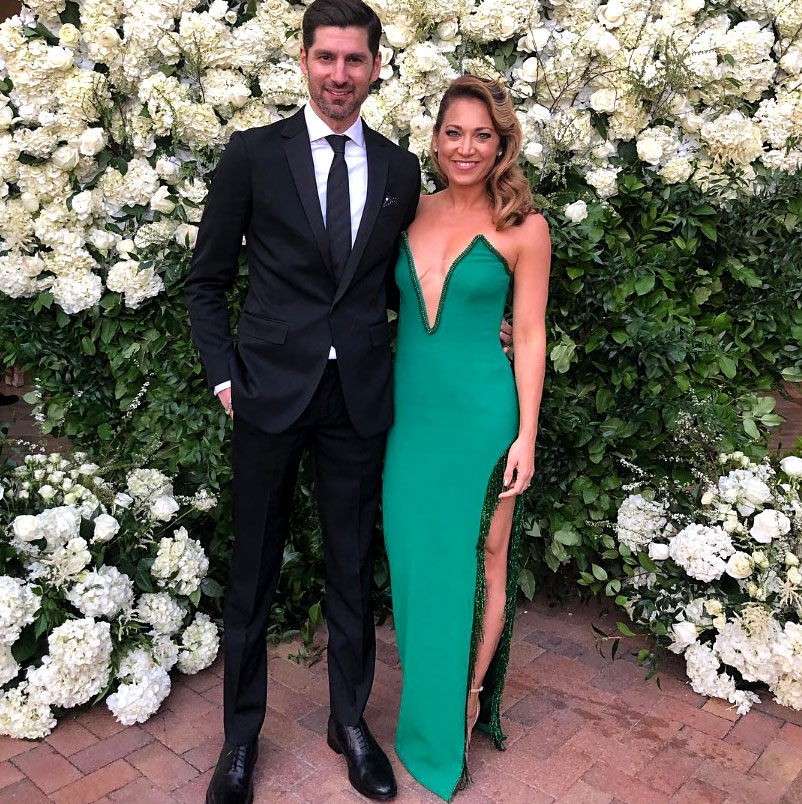 Celebs Party Val Chmerkovskiy Jenna Johnson Wedding - The Good Morning America meteorologist, who competed on DWTS season 22, attended the nuptials with her husband of four years.