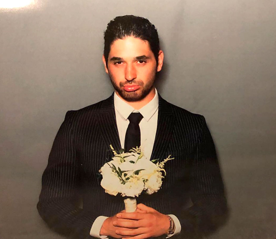 Celebs Party Val Chmerkovskiy Jenna Johnson Wedding - The DWTS pro seemed to make light of his stag status in the photo booth.