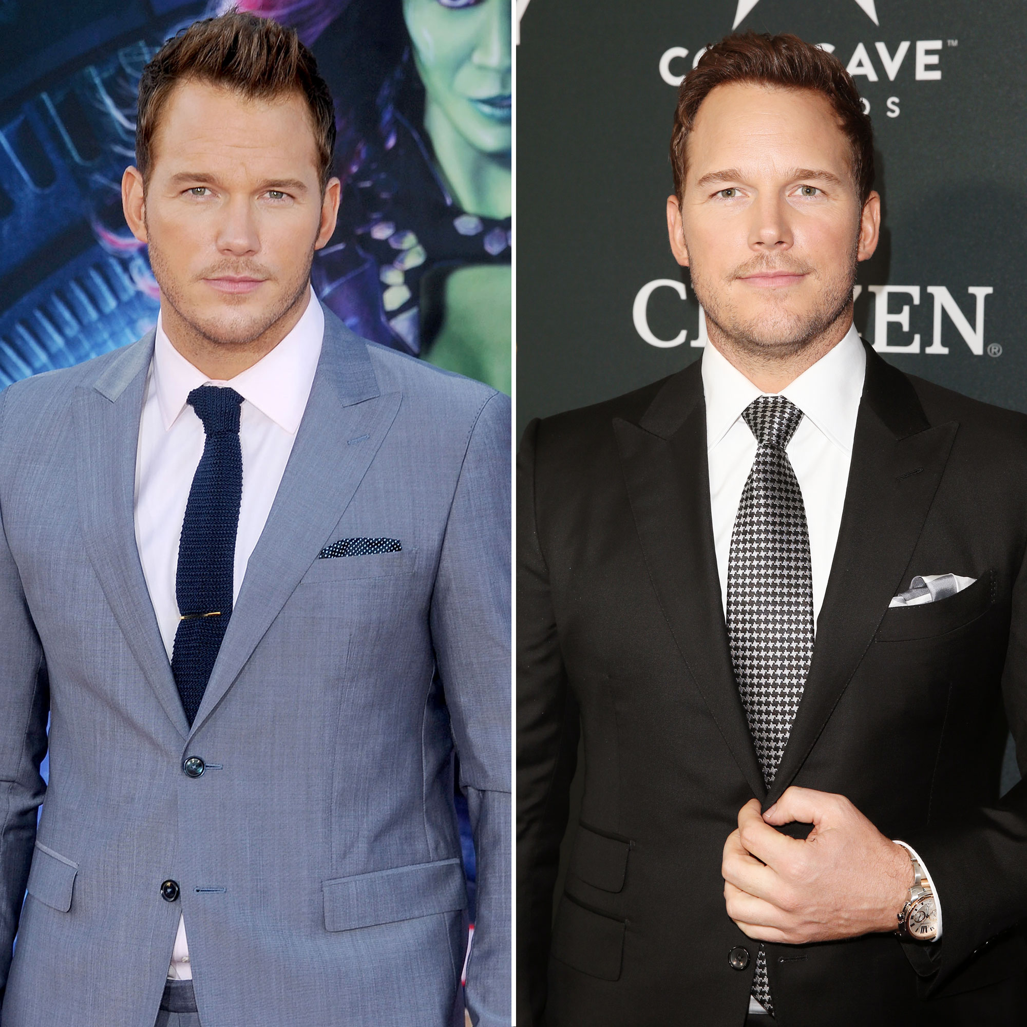Chris Pratt Avengers Premiere First Super Red Carpet to Their Last - The Parks and Recreation alum first walked the carpet in 2014 as Peter Quill/Star Lord at the premiere of Guardians of the Galaxy while married to Anna Faris . The pair, who attended the event together, have since split , with Pratt getting engaged to Katherine Schwarzenegger : his date for the Endgame premiere.