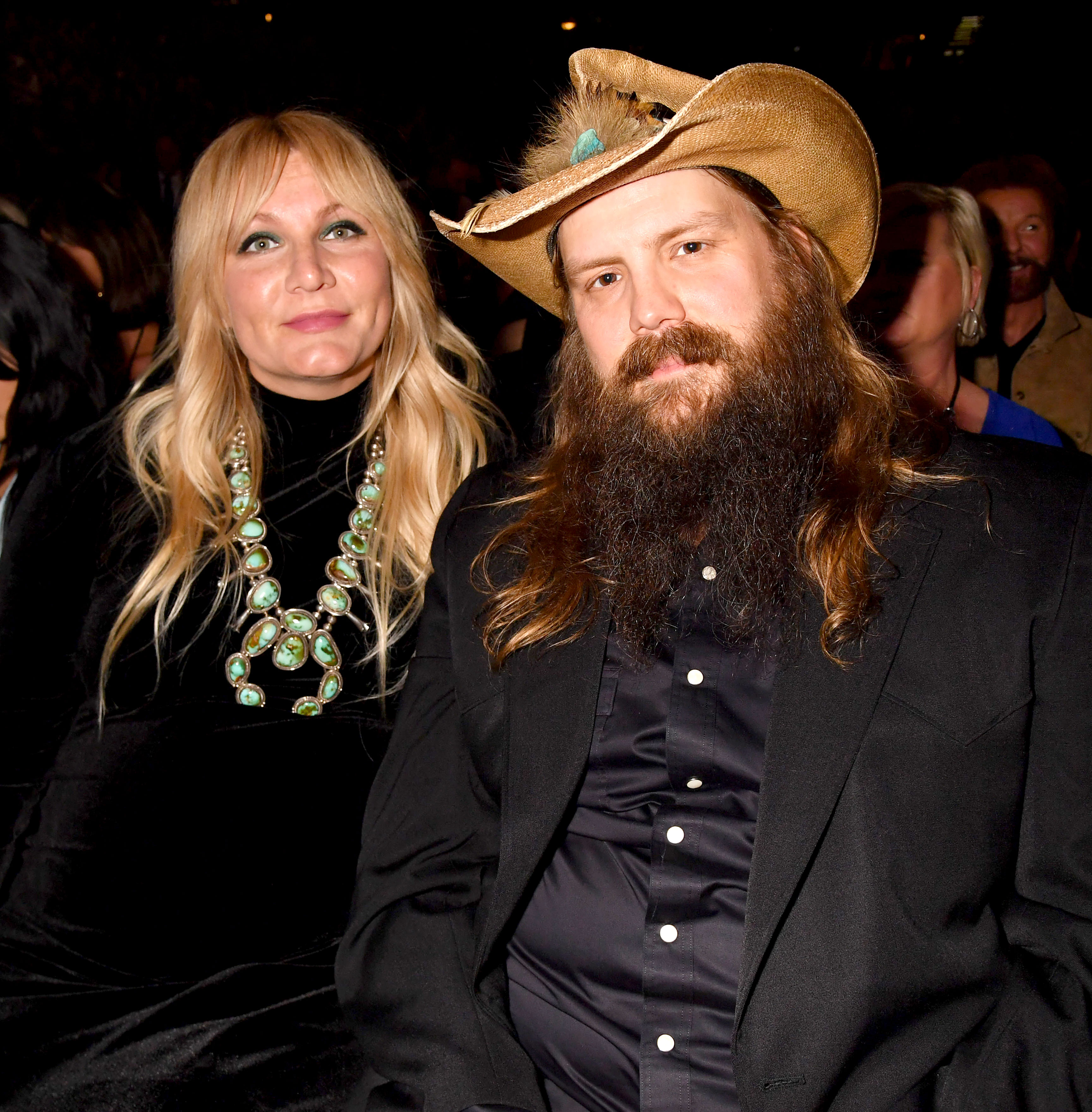 Chris Stapleton's Wife Morgane Gives Birth to Their Fifth Child Together - Morgane Stapleton and Chris Stapleton during the 54th Academy Of Country Music Awards at MGM Grand Garden Arena on April 07, 2019 in Las Vegas, Nevada.
