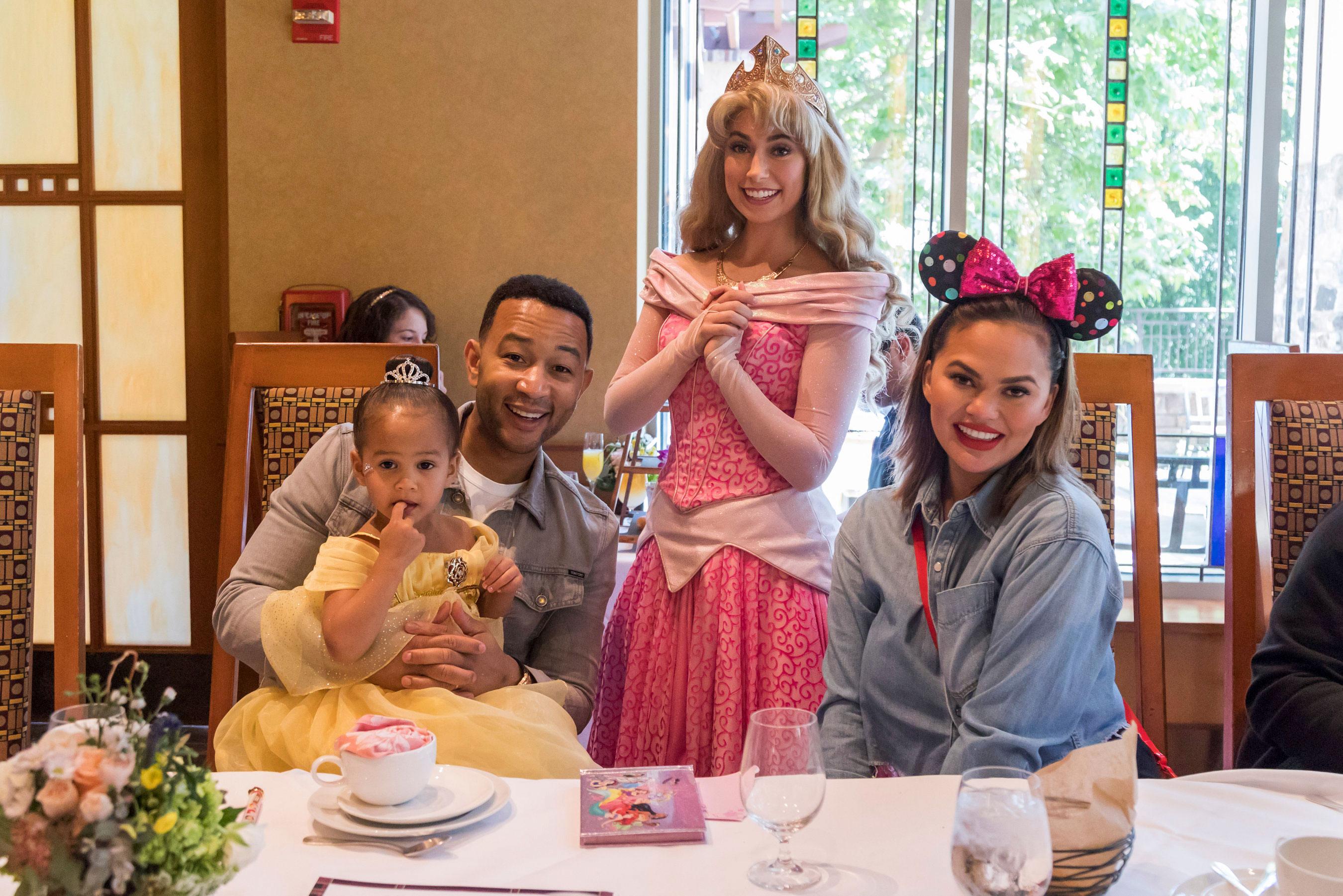 Chrissy Teigen, John Legend Take Luna to Disneyland for 3rd Birthday
