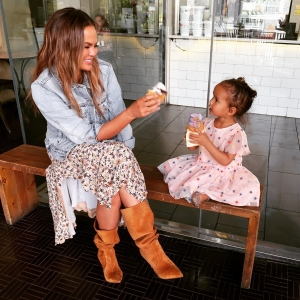 Chrissy Teigen's Daughter Luna Is Freaking