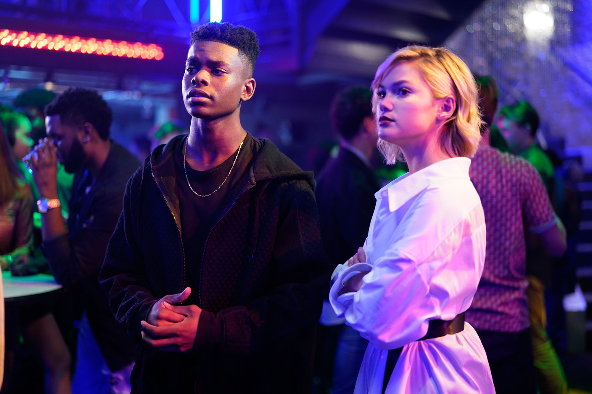 "MARVEL'S CLOAK & DAGGER - ""Restless Energy"" - Ty ( Aubrey Joseph ) and Tandy ( Olivia Holt ) have finally embraced their destinies as heroes, but still face trouble ahead when Marvel's Freeform series returns for its second season. The duo go head to head with a new enemy who they once called a friend and must figure out how to best use their powers."