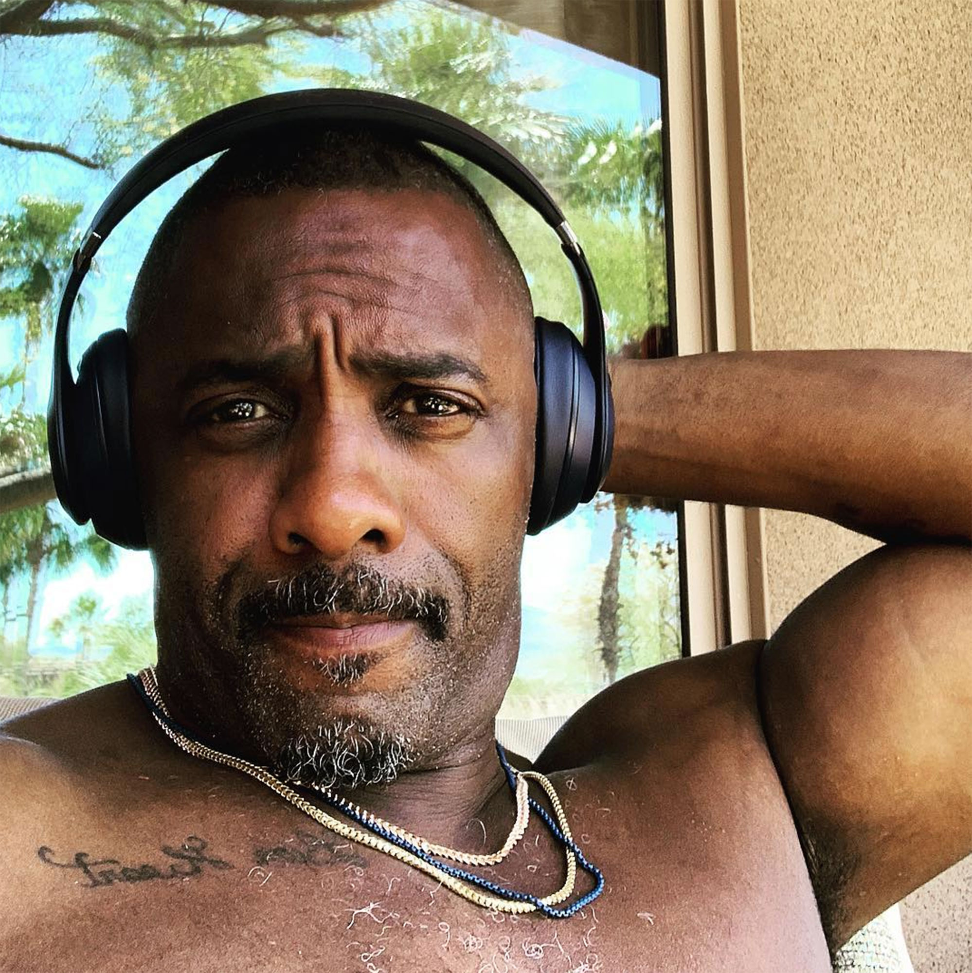 Idris Elba coachella - The Avengers: Infinity War actor, who played a DJ set Saturday, took time out for a shirtless selfie .