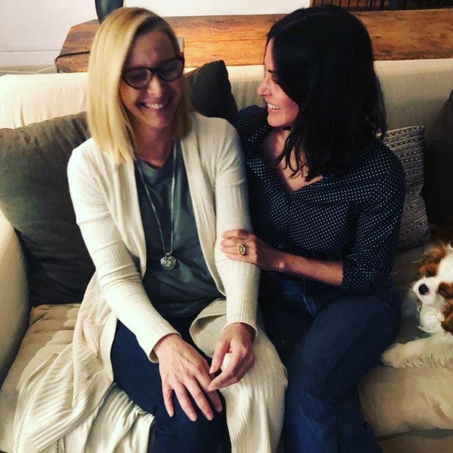Costars Reunited Friends Courteney Cox Lisa Kudrow