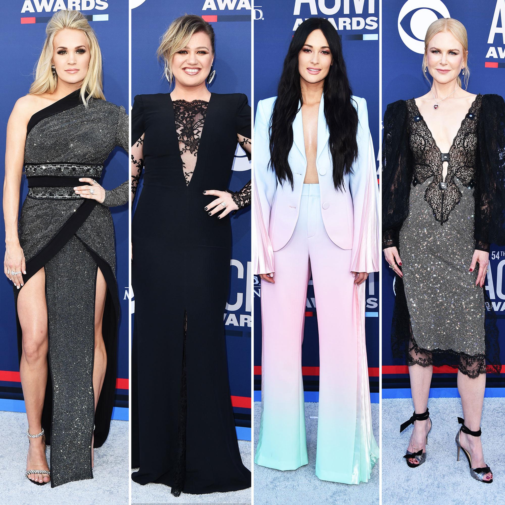 Acm Awards 2019 Red Carpet Fashion Style
