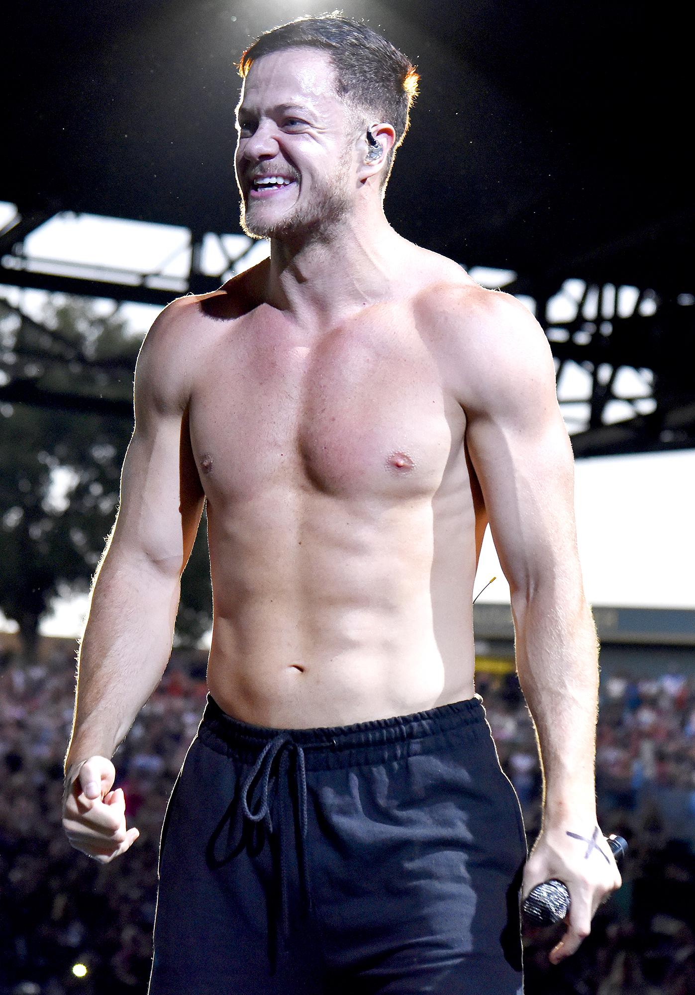 Dan-Reynolds-performing-shirtless