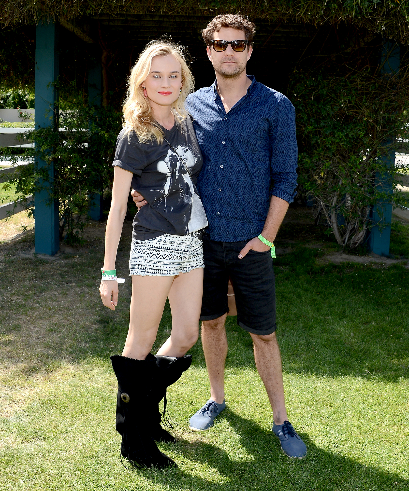 Diane-Kruger-and-Joshua-Jackson-coachella - The Inglourious Basterds actress and the Affair star helped kick off Coachella at the H&M Loves Music event in 2013.