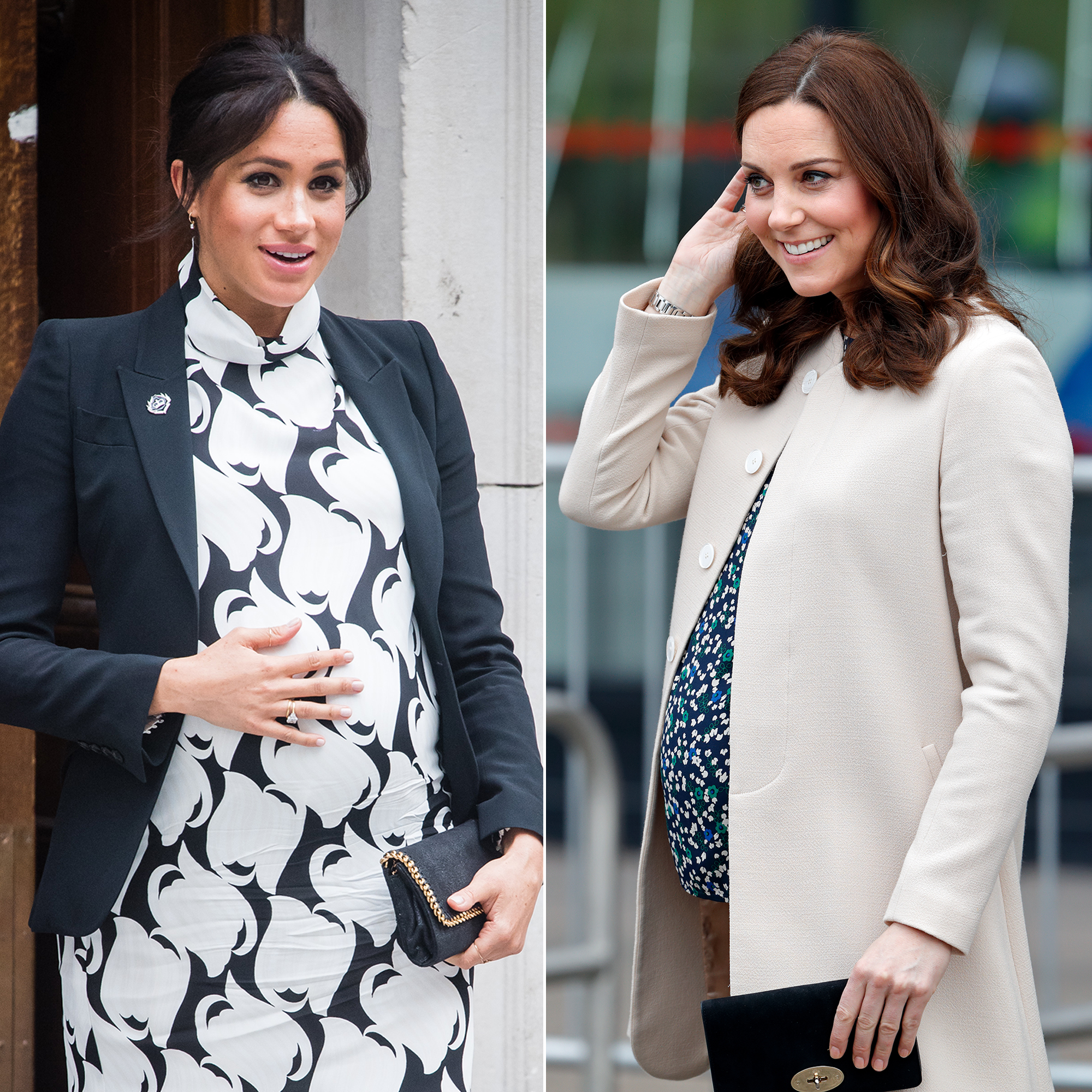 Differences Duchess Meghan Duchess Kate During Pregnancy - Meghan, Duchess of Sussex and Catherine, Duchess of Cambridge.