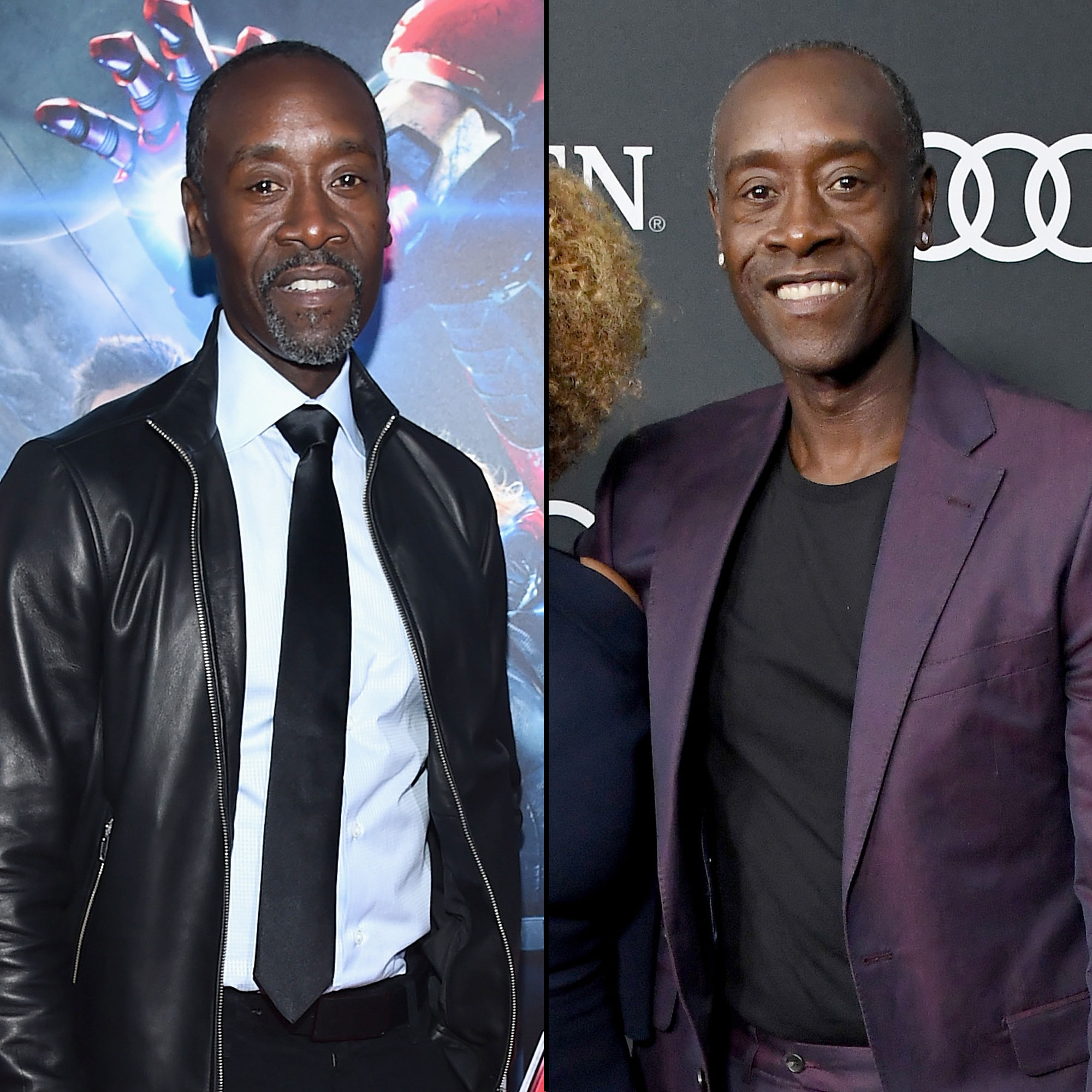 Don Cheadle Avengers Premiere First Super Red Carpet to Their Last - Though the longtime actor appeared in Iron Man films as far back as 2010, he didn't make his Avengers debut until 2015's Age of Ultron . Cheadle looked every bit as spiffy in his purple suit at the Endgame showing as he did in his slick leather jacket years prior.