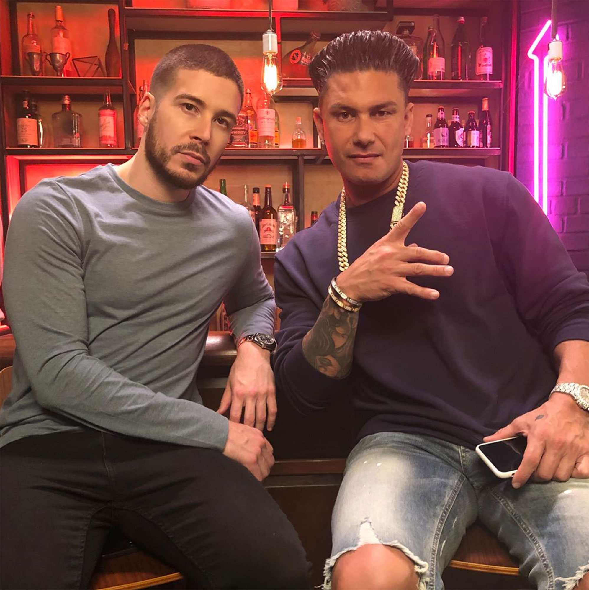 "Double Shot at Love with DJ Pauly D & Vinny - Gym, tan, date 20 women! Jersey Shore vets Paul ""DJ Pauly D"" DelVecchio and Vinny Guadagnino look for love in MTV's reboot of the 2008 competition series."