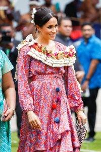 Duchess Meghan's Blue vs. Pink Maternity Looks