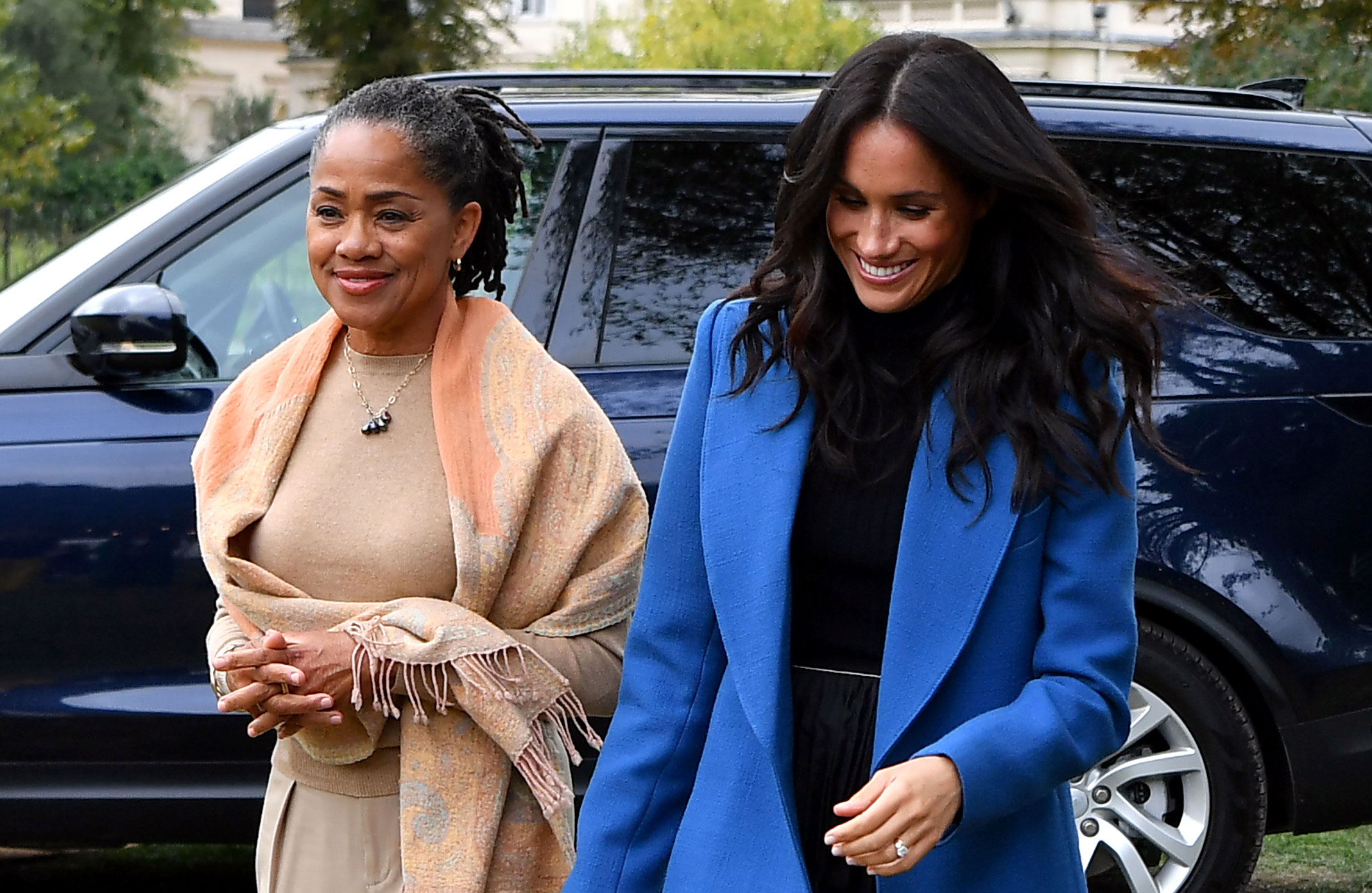 Duchess Meghan Mom Doria London Awaiting Royal Baby Arrival - Doria Ragland and Meghan Markle, The Duchess of Sussex, hosts an event to mark the launch of a cookbook with recipes from a group of women affected by the Grenfell Tower fire at Kensington Palace, London, UK, on the 20th September 2018.