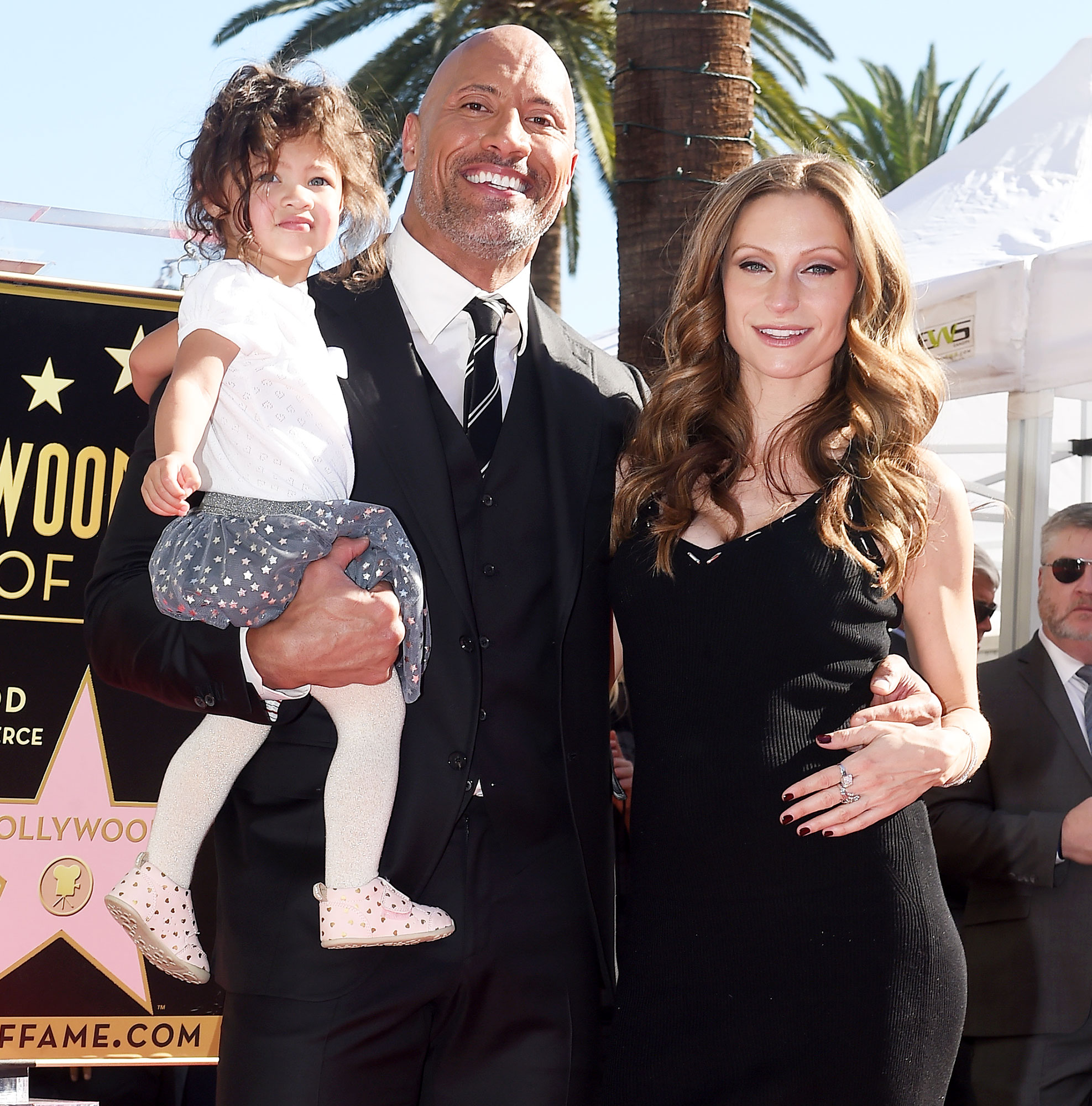 Dwayne Johnson The Rock Lauren Hashian Jasmine Tiana First Birthday