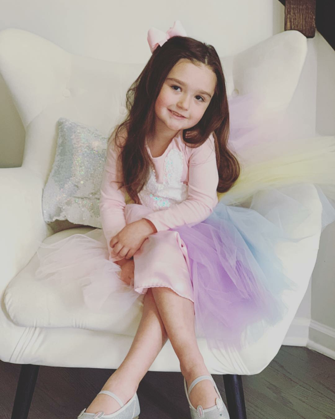"Easter Kids - Jenni ""JWoww"" Farley ' s daughter, 4, was all smiles in a rainbow Easter dress."