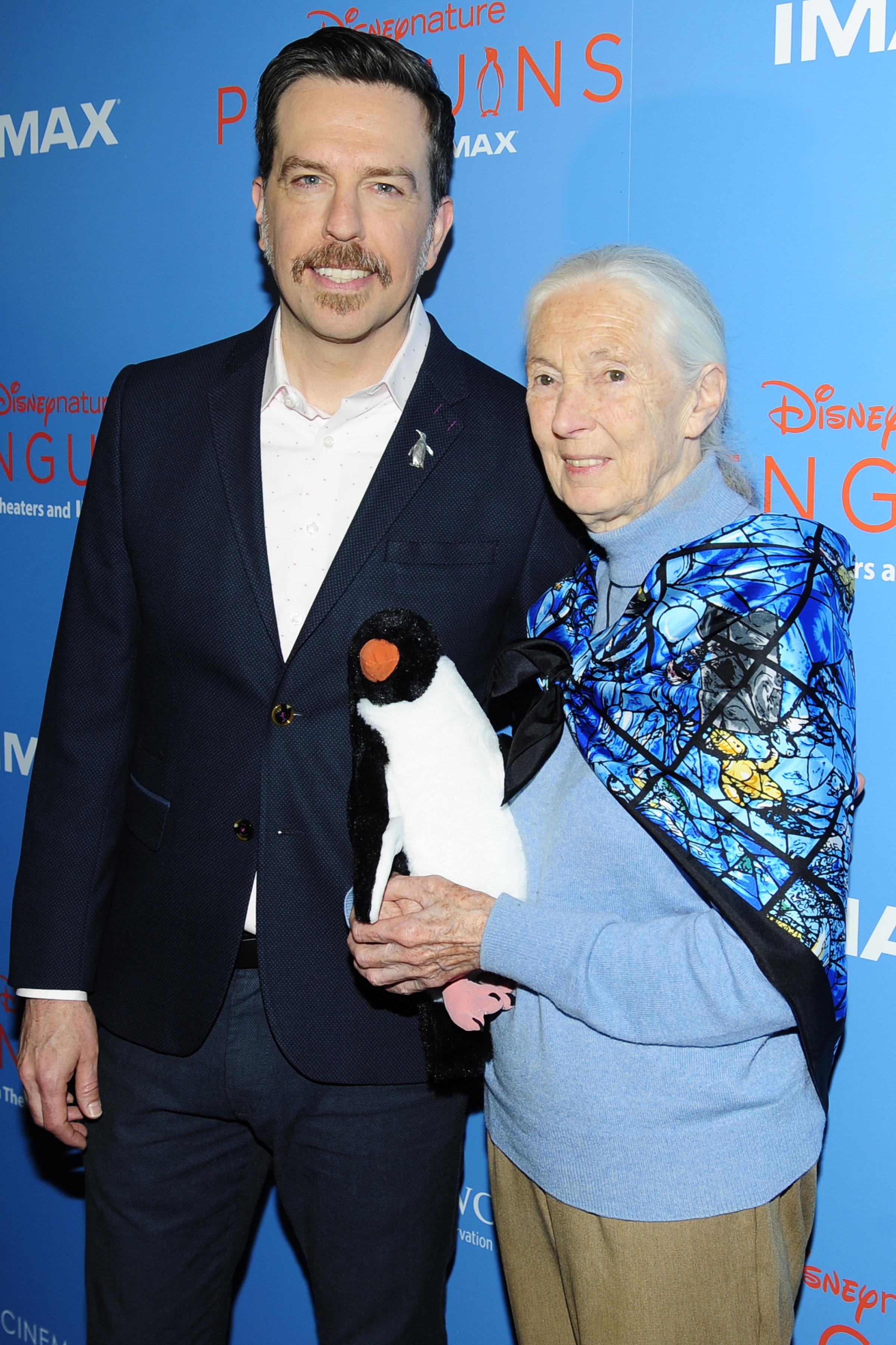 Ed Helms Jane Goodall - Ed Helms and Jane Goodall.