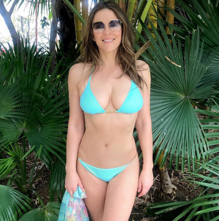 c38d96b486f How Elizabeth Hurley Stays in Shape: Fitness, Diet Tips Over 50