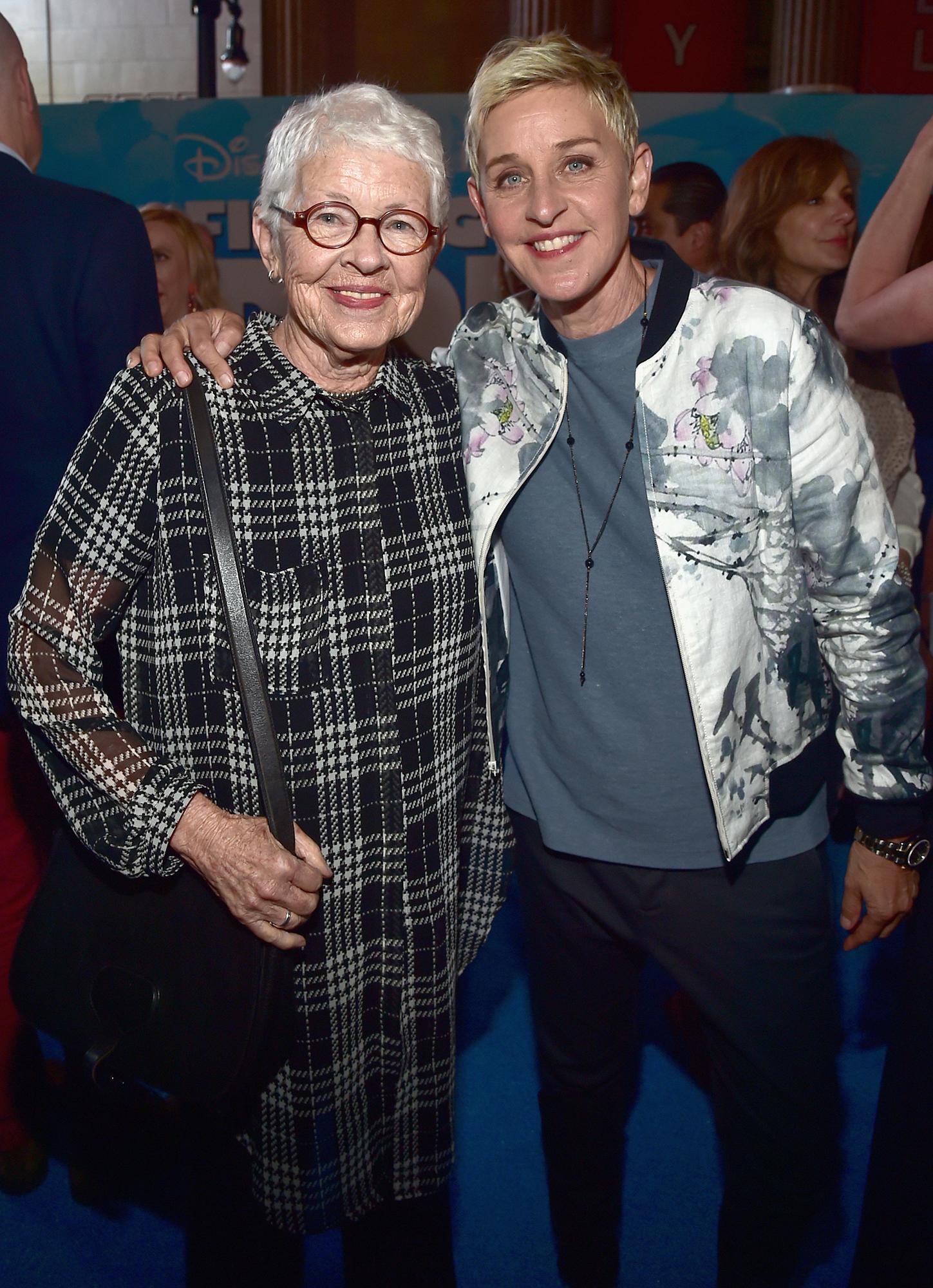 Ellen DeGeneres' Mom Betty DeGeneres Says Her Daughter Won't Have a Baby With Wife Portia de Rossi - Betty DeGeneres and Ellen DeGeneres.