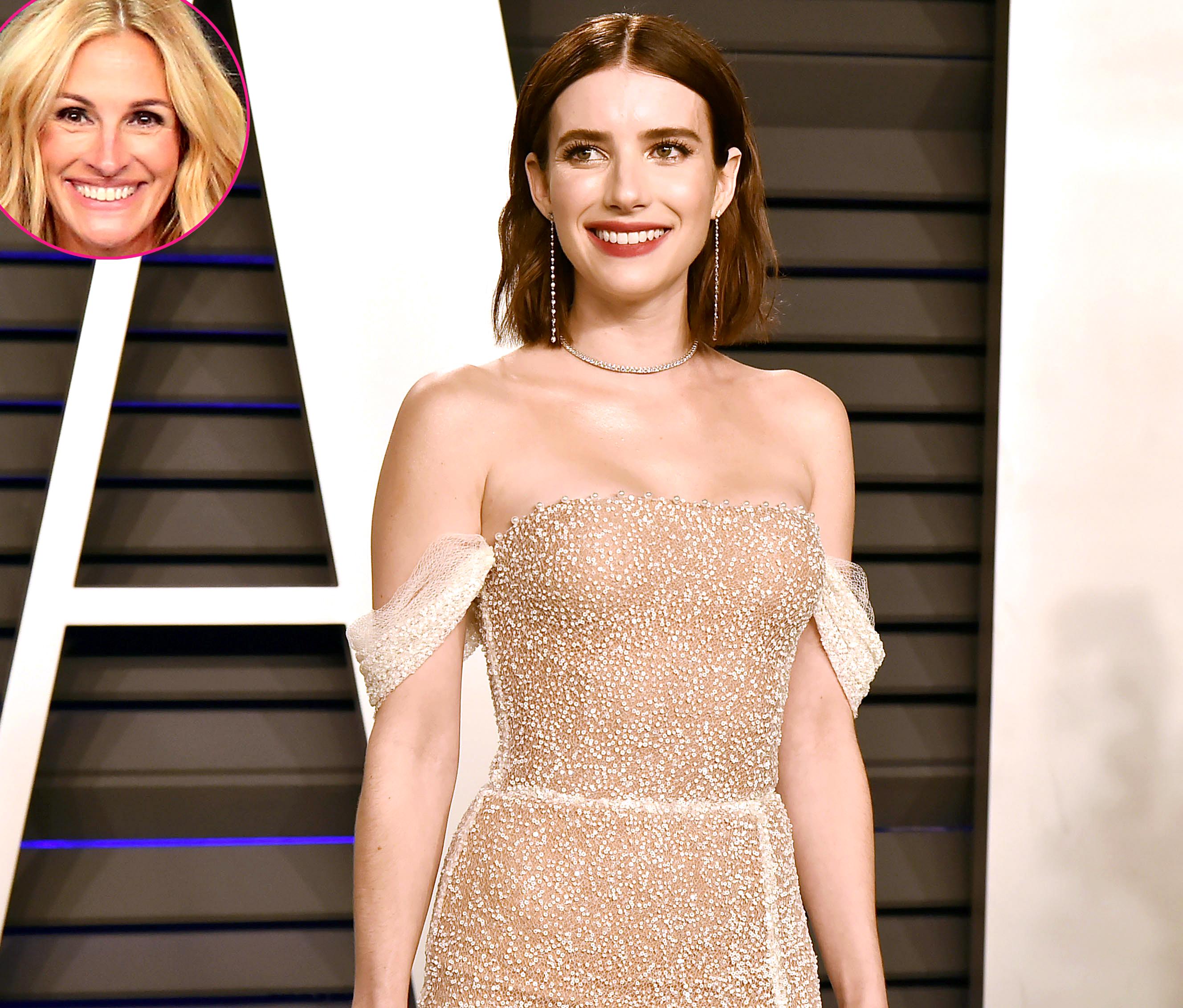 Emma Roberts Jokes She Julia Roberts Both Have A Lot Of Teeth