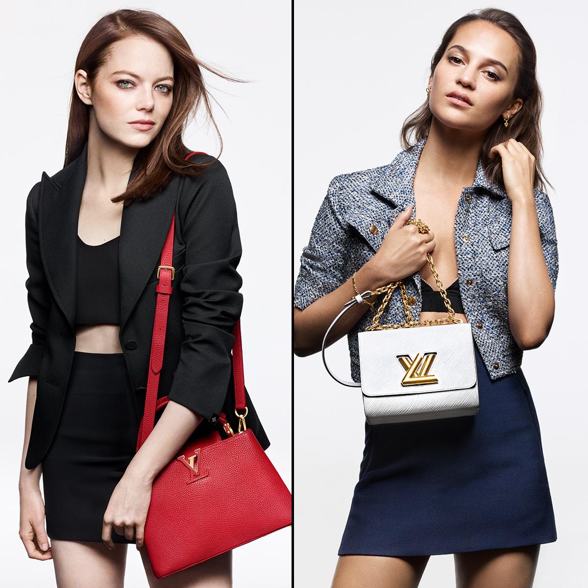 Emma-Stone,-Alicia-Vikander-and-Lea-Seydoux-Stun-in-Louis-Vuitton's-Latest-Campaign - Emma Stone and Alicia Vikander