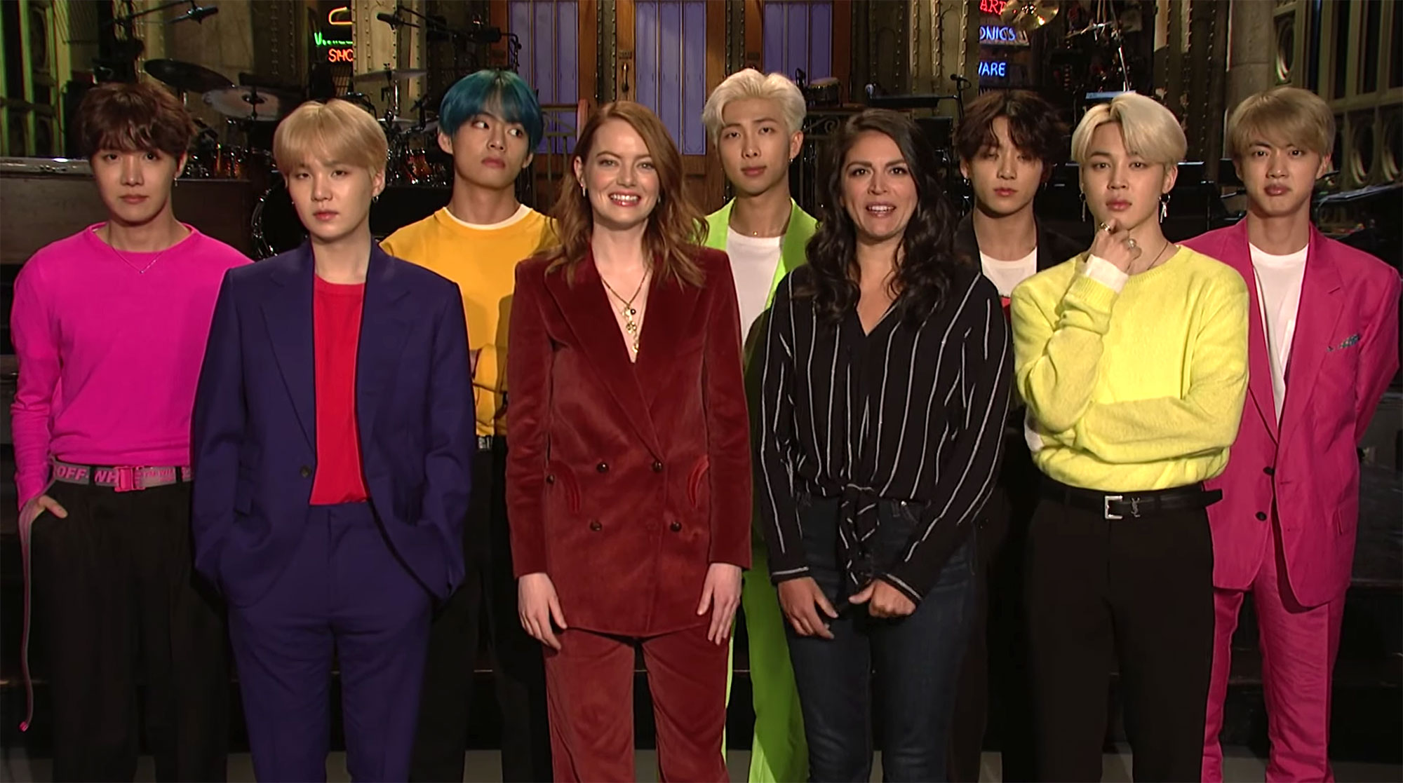 Emma Stone BTS SNL Recap - Emma Stone and BTS appear on 'Saturday Night Live.