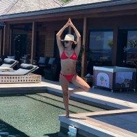 Eva Longoria Red Bikini After Giving Birth