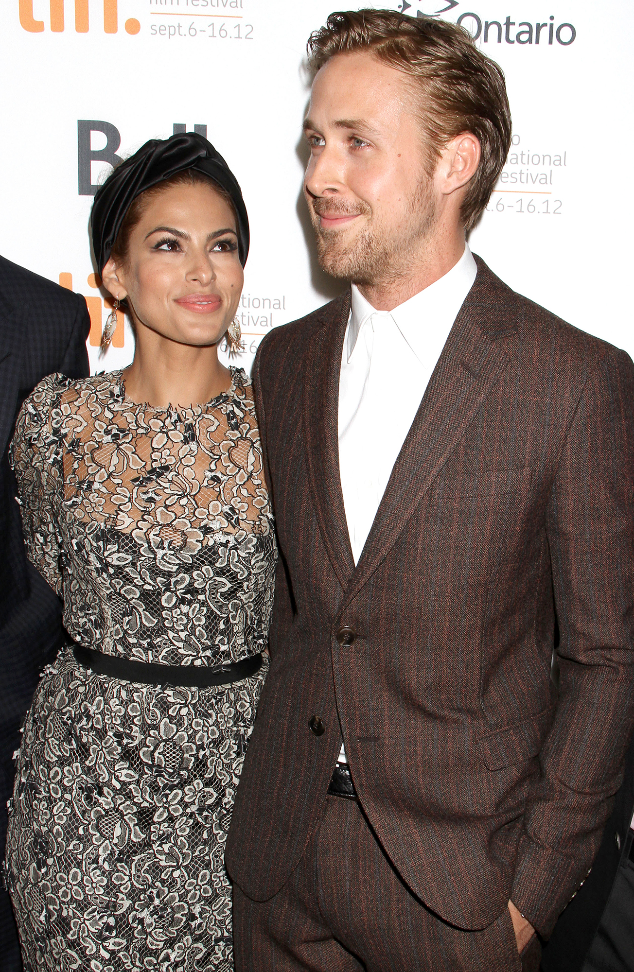 Eva Mendes and Ryan Gosling - Eva Mendes and Ryan Gosling attend the TIFF premiere for 'The Place Beyond The Pines' on September 7, 2012 in Toronto, Canada.