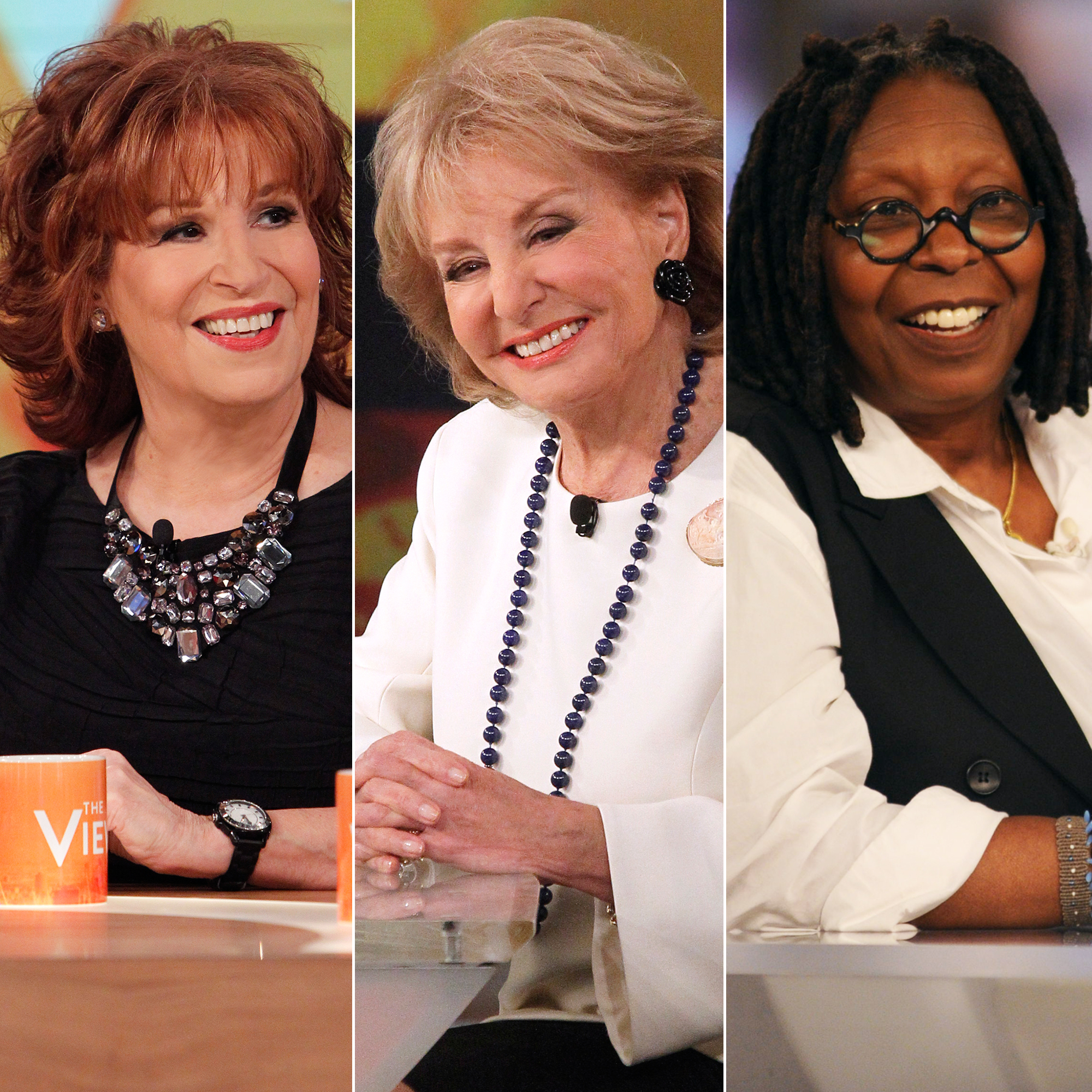 Every 'The View' Cohost Since 1997 Premiere: Joy Behar, Barbara Walters, Whoopi Goldberg and More - Joy Behar, Barbara Walters and Whoopi Goldberg on 'The View.'