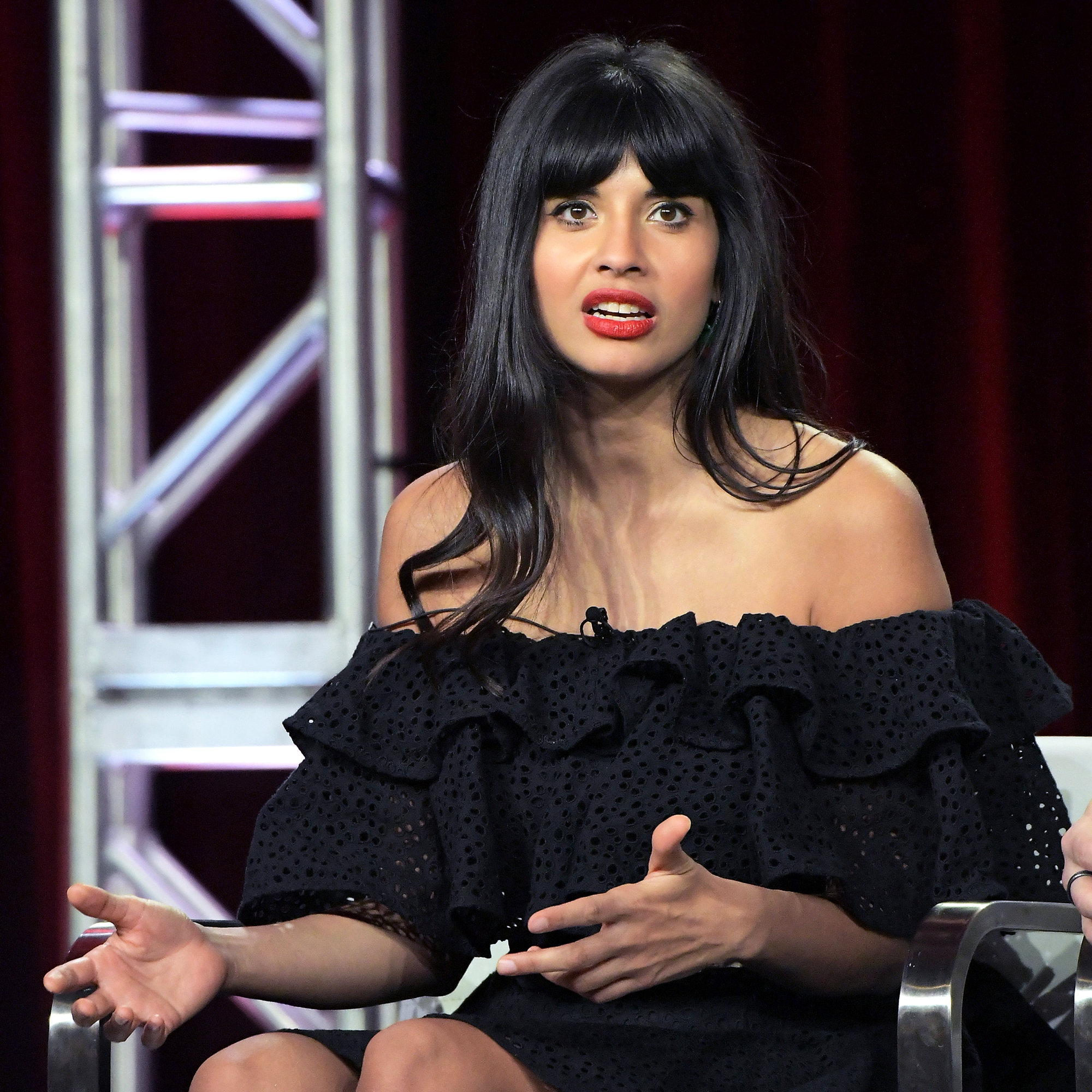 Everything Jameela Jamil Has Ever Said About Body-Shaming Culture - In 2015, Emile Hirsch pleaded guilty to misdemeanor charges of assault after he was accused of choking film executive Daniele Bernfeld . When director Quentin Tarantino cast Hirsch in Once Upon a Time in Hollywood in June 2018, Jamile spoke out.