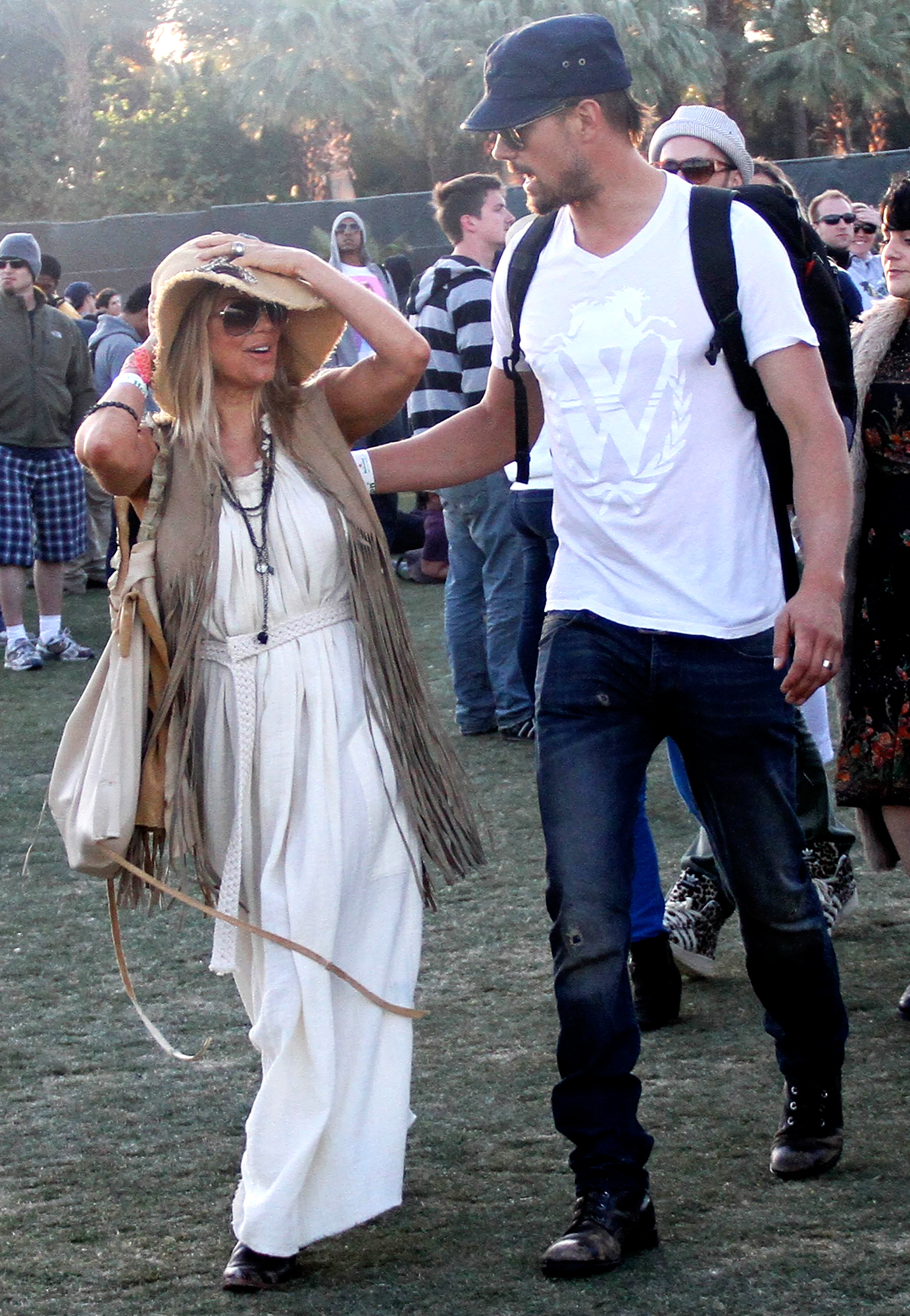 "Fergie-and-Josh-Duhamel-Coachella - The ""Fergalicious"" singer went boho-chic with the Transformers star in 2012."
