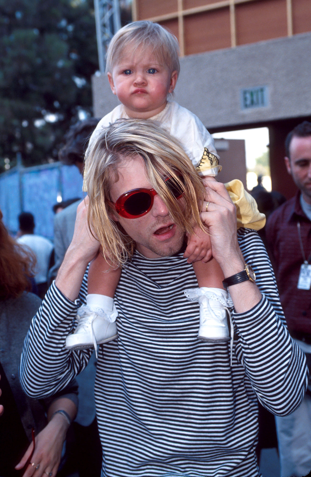 Frances Bean Cobain Talks Suicide Prevention on Anniversary of Dad's Death - Kurt Cobain of Nirvana and daughter Frances Bean Cobain.