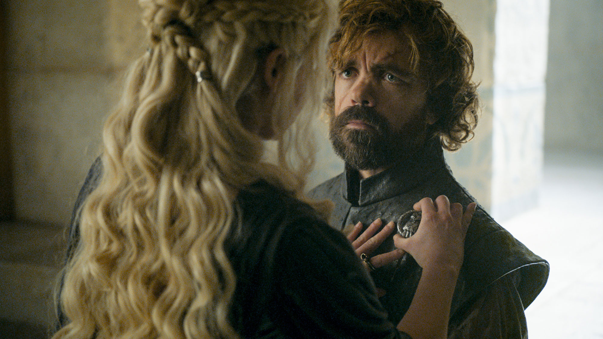 Game of Thrones braids hairstyles hair Emilia Clarke, Peter Dinklage - Our favorite part of this season six style? The metallic accessories she used keep everything in place.
