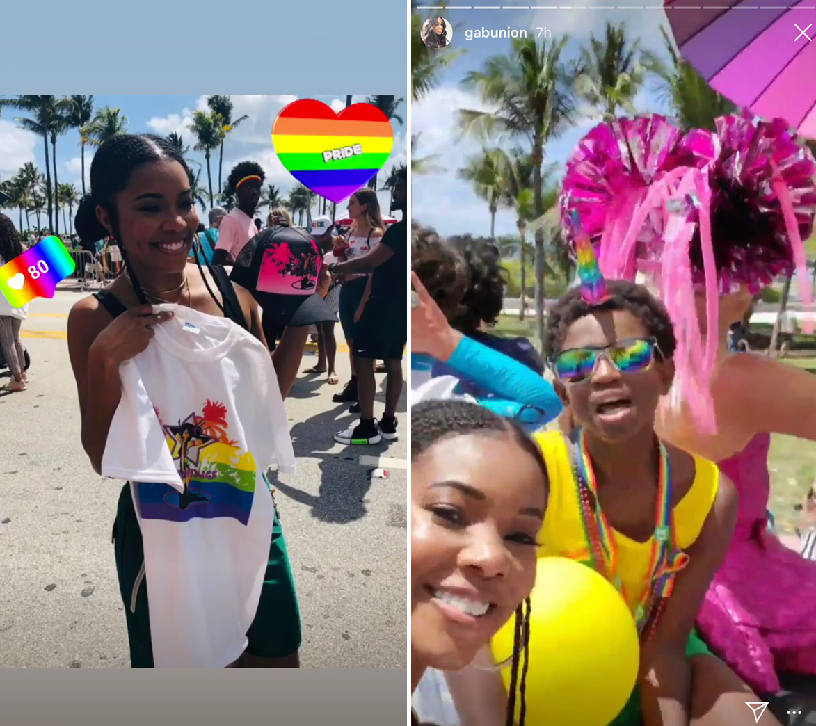 Gabrielle Union Supports Dwyane Wade's 11-Year-Old Son at Gay Pride