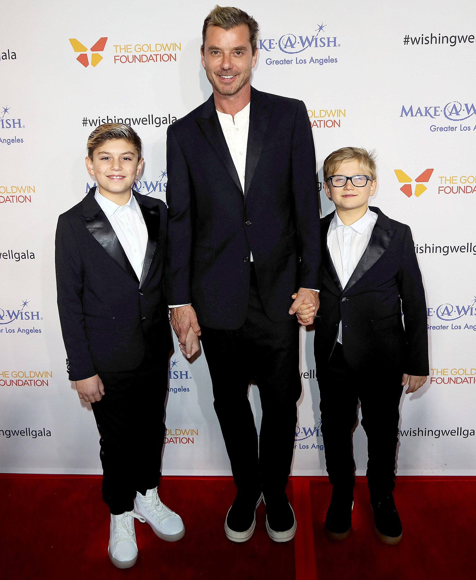 Gavin-Rossdale-Kingston-Rossdale-Zuma-Rossdale - Gavin Rossdale and sons Kingston Rossdale and Zuma Nesta Rock Rossdale attend the 4th Annual Wishing Well Winter Gala at the Hollywood Palladium on December 7, 2016 in Los Angeles, California.