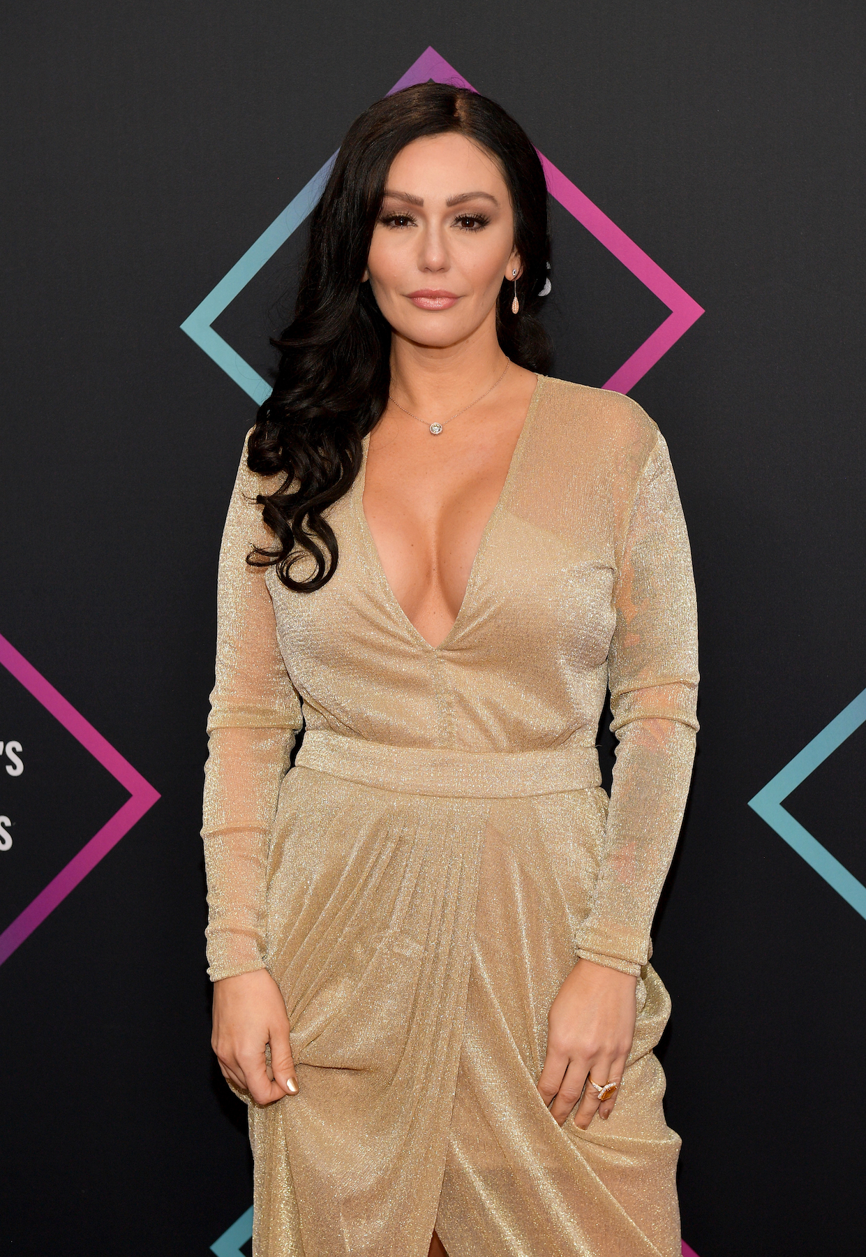 Jenni 'JWoww' Farley Shares Photo on Date With Mystery Man: She's 'Moved On' - Jenni 'JWoww' Farley attends the People's Choice Awards 2018 at Barker Hangar on November 11, 2018 in Santa Monica, California.