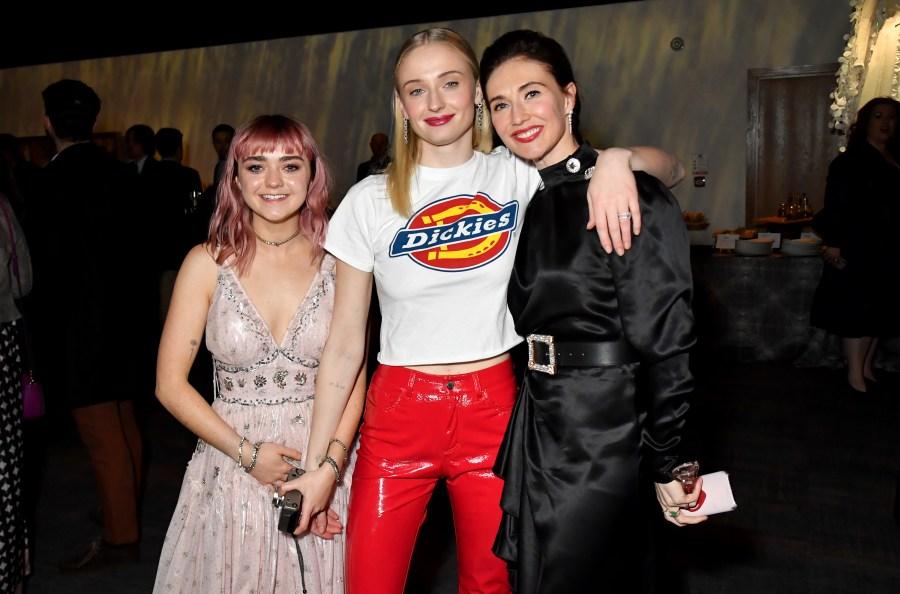 Maisie Williams, Sophie Turner and Carice Van Houten