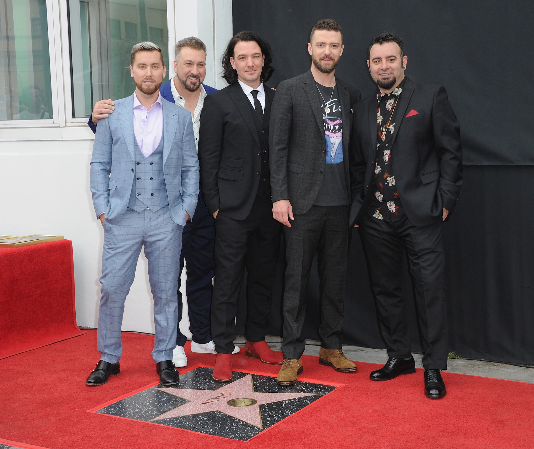 'NSync Reunites for Ariana Grande's 2019 Coachella Performance - NSYNC Honored With Star On The Hollywood Walk Of Fame held on April 30, 2018 in Hollywood, California.