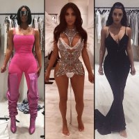 Kim Kardashian fittings pink chanel victoria's secret black gown