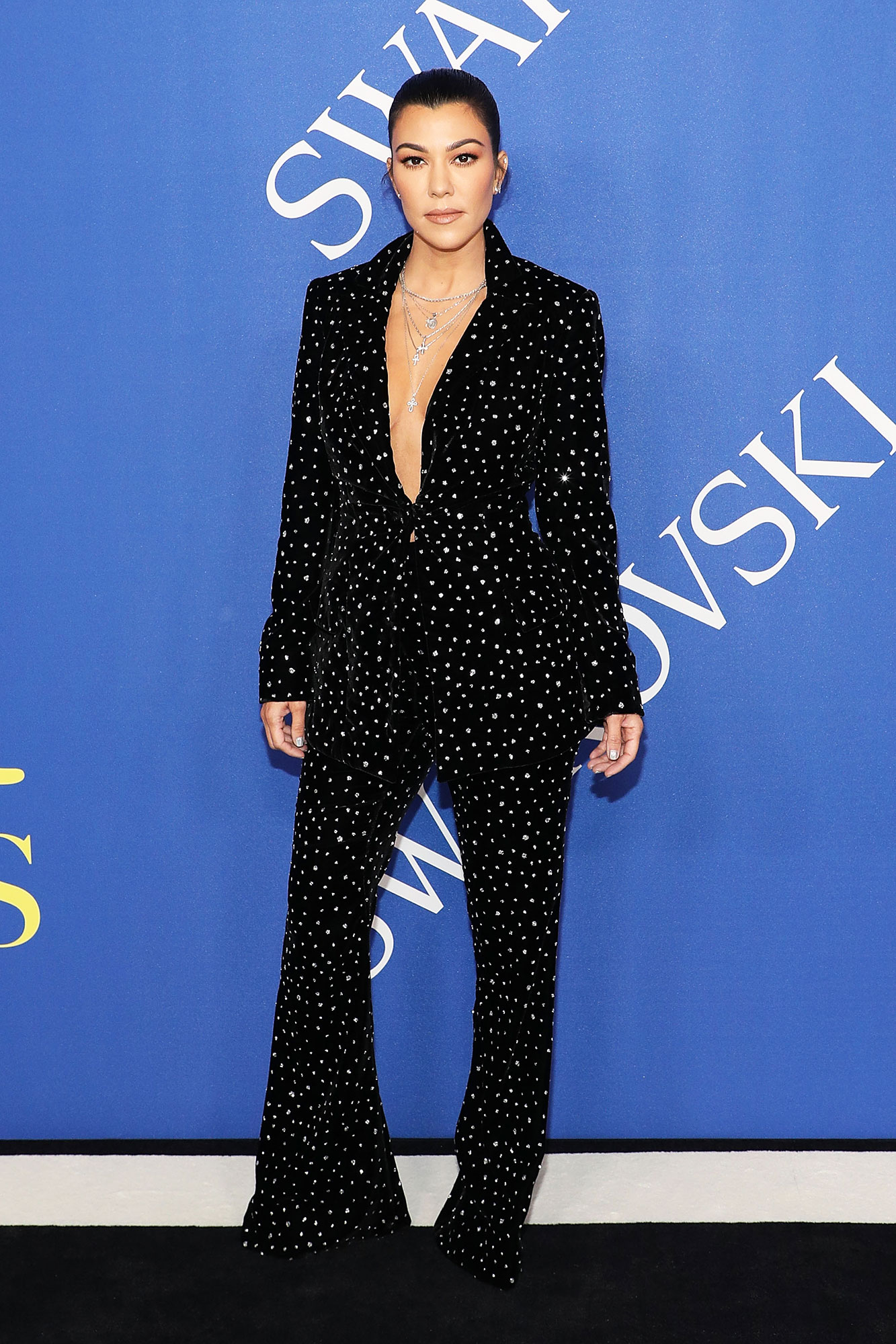 Happy 40th Birthday, Kourtney Kardashian - It was all about the #BossLady vibes in a sparkly Christian Siriano suit at the 2018 CFDA Awards.