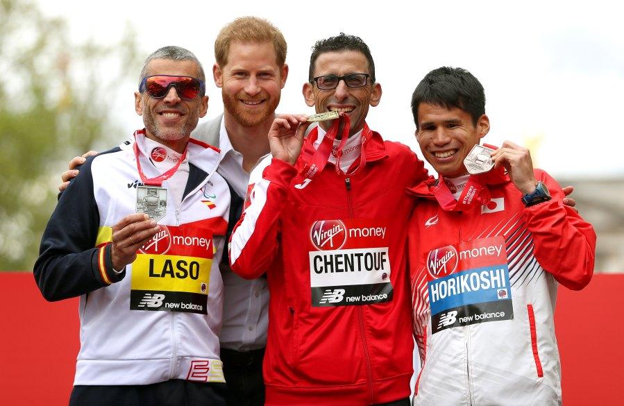 Prince Harry attends Medals 2019 Virgin Money London Marathon
