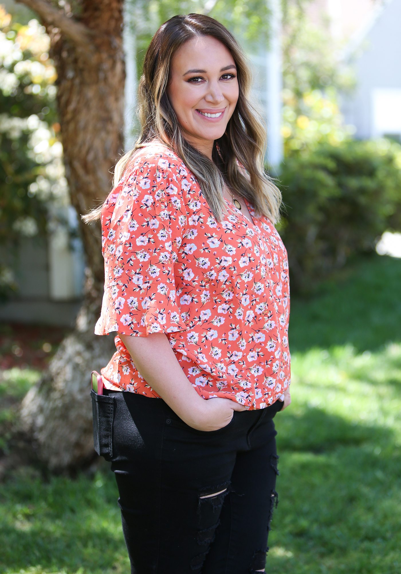 Haylie Duff and Hilary's Daughters Close in Age - Haylie Duff visits Hallmark's 'Home & Family' at Universal Studios Hollywood on April 22, 2019 in Universal City, California.